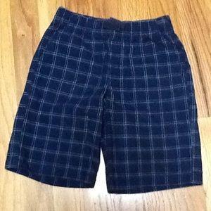 Boy's 5T Pull On Plaid Shorts, EUC